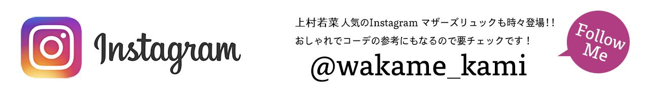 インスタグラム INSTAGRAM @wakame_kami